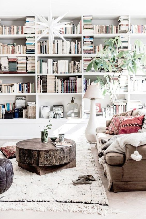 7 Chic Home Libraries to inspire you on how to decorate your own home library - We've got something KOOL just 4 Boho-Chics! These literally go viral! Check them out! :-)