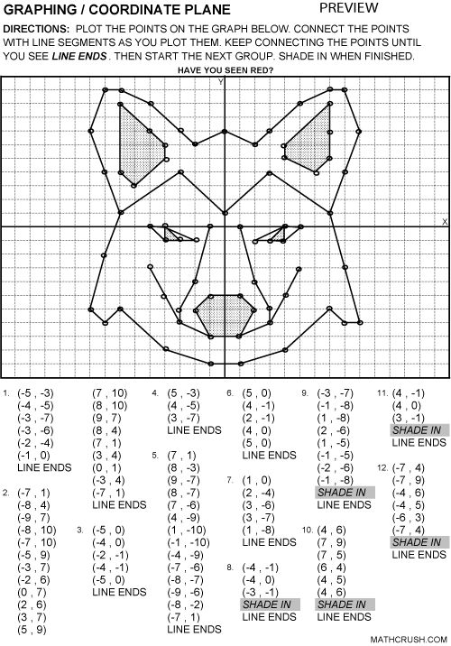 Coordinate grid picture worksheets for 5th grade