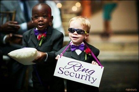 Ring security - niños llevando anillos - Ideas Blog Odilia Bridal