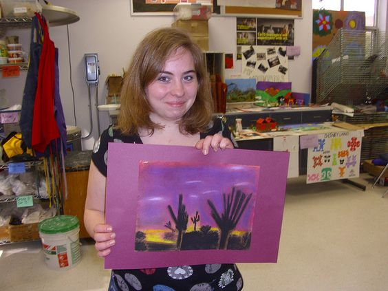 Sarah Wyckoff, 8th grade 1st place Drawing and Painting.