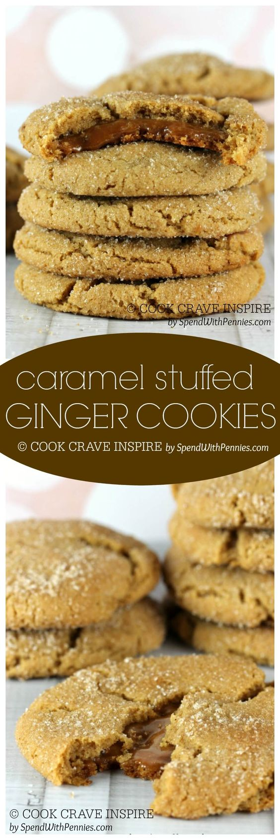 Caramel Filled Ginger Cookies | Recipe | Homemade caramels ...