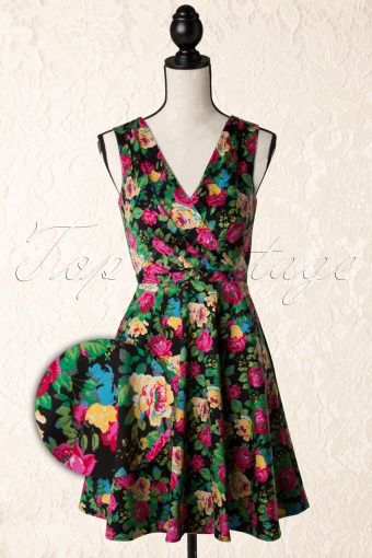 Fever Flower Hollywood Dress Black  105 14 13941 20141210 007w
