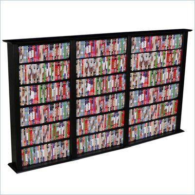 Venture Horizon Triple 50-Inch CD DVD Wall Rack Media Storage - 2403