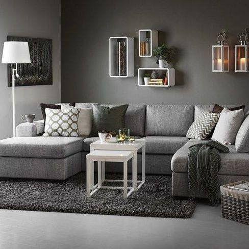 Pin By Felicia Leijon On House Flat Ideas Grey Sofa Living Room Dark Grey Couch Living Room Grey Couch Living Room
