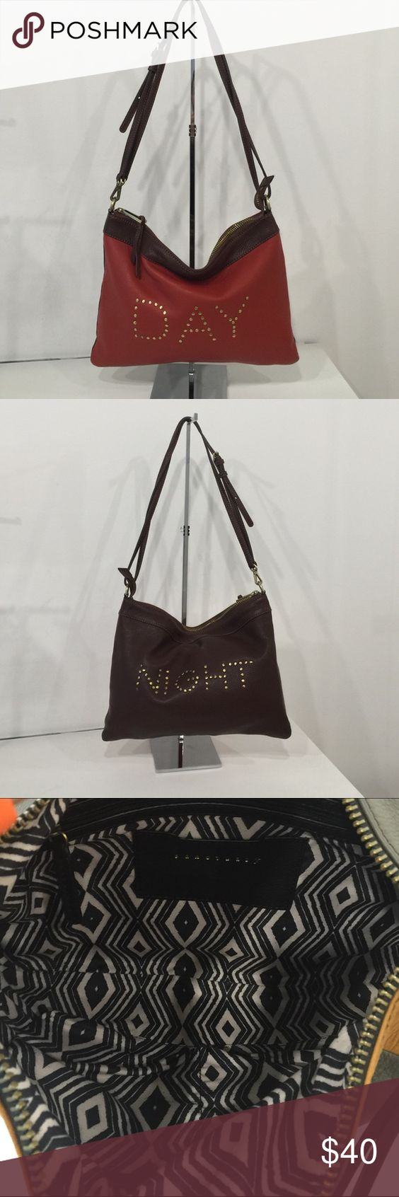 Sanctuary handbags crossbody Day/night crossbody 2 toned in brown and Brooklyn brick red Sanctuary Bags Crossbody Bags
