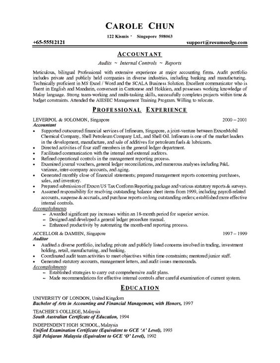 Professional Job Resume Template -    wwwresumecareerinfo - resume objective for accounting