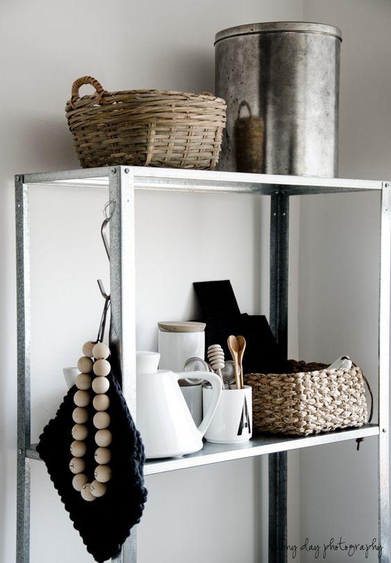 Ikea Badkamer Rekken ~ zinken rek Badkamer  Naturel  HYLLIS stellingkast  #Ikea