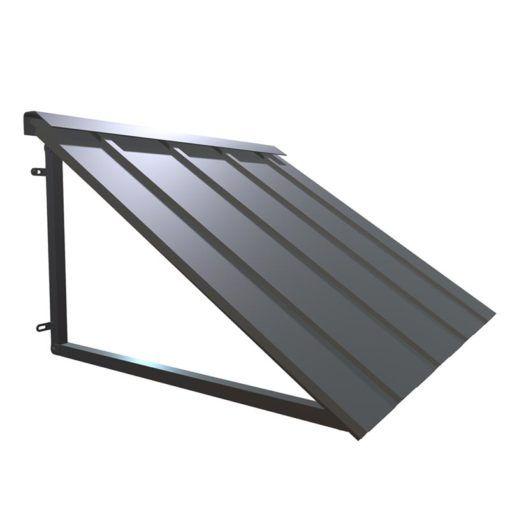 Houstonian Metal Standing Seam Awning In 2020 Metal Awning Corrugated Metal Roof Metal Awnings For Windows