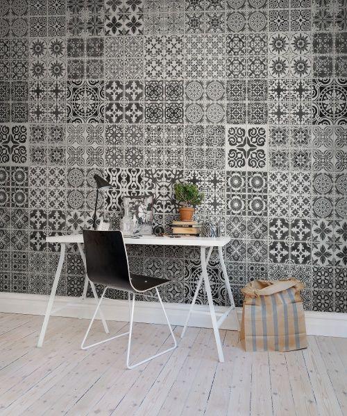 Hey, look at this wallpaper from Rebel Walls, Marrakech, black! #rebelwalls #wallpaper #wallmurals