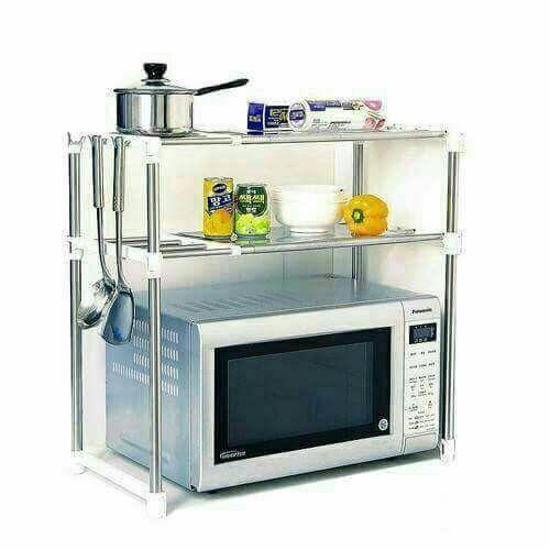 استاند ومنظم الميكرويف متعدد الاستخدامات Microwave In Kitchen Microwave Stand Kitchen