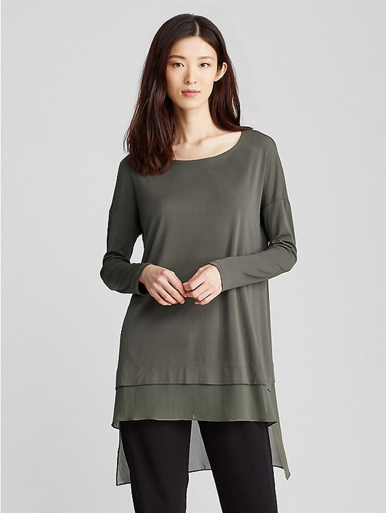 Bluesign® Certified Silk-Block Tunic: