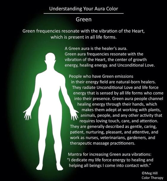 Green aura info