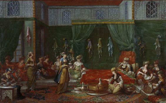 Vanmour, Jean Baptiste - Nursery of a prominent Turkish women, 1727-1737