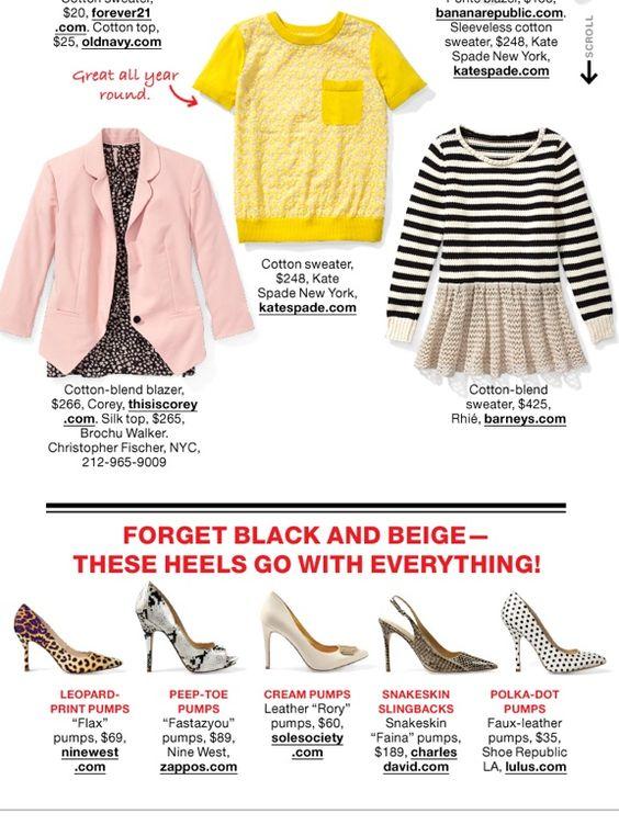 Pencil skirt 8 Ways #2 ~ April Lucky magazine.