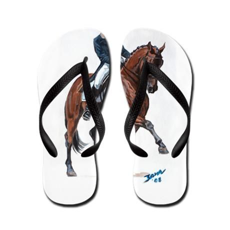 Dressage horse painting. Flip Flops   Awesome!