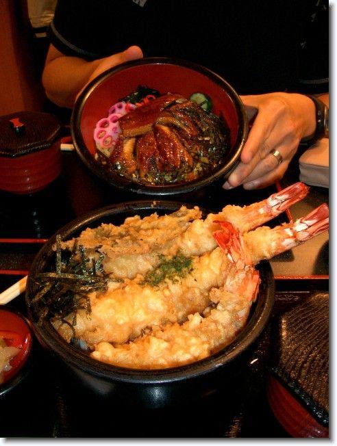 鰻丼と天丼|UnagiDonburi(B.B.Q.EelDonburi) &TenDon (Tenpuradon)