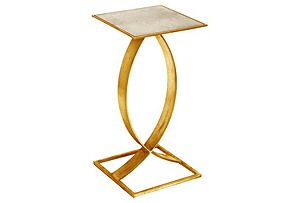 Swan Side Table, Gold; I love this entire set!
