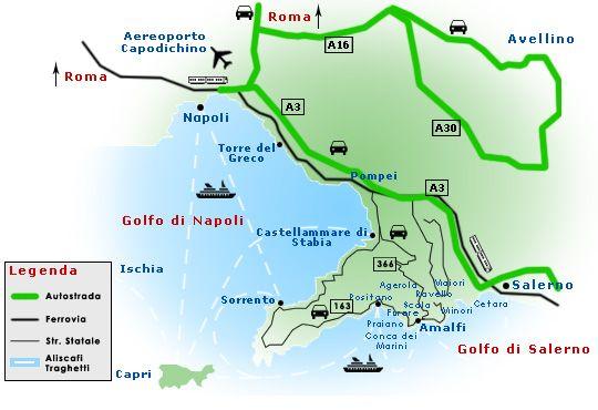 Amalfi Karte Amalfi Ischias Urlaub