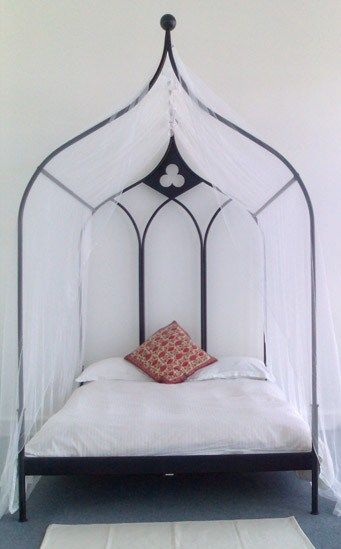 Gothic revival revival beds pinterest canopy frame for Gothic style bed