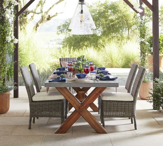 Abbott Rectangular 84 Quot Dining Table Brown Outdoor Dining