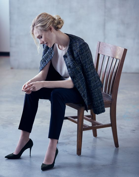 Stay warm in that chilly office of yours with a tweed jacket.