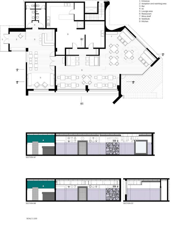 Plan And Elevation Of Restaurant : Pinterest the world s catalog of ideas