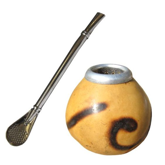 Yerba Mate Gourds and Bombillas - Gourd and bombilla are ...  Yerba Mate Gour...