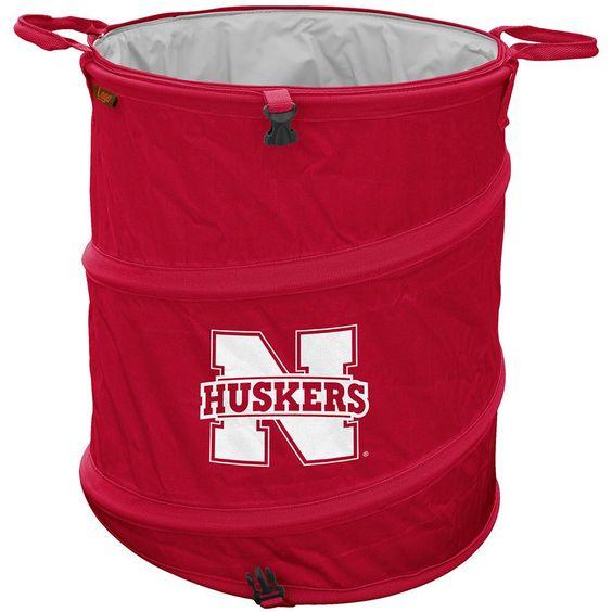 Nebraska Cornhuskers NCAA Collapsible Trash Can