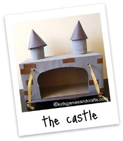 Castle with a tissue box. Easy and super cute.