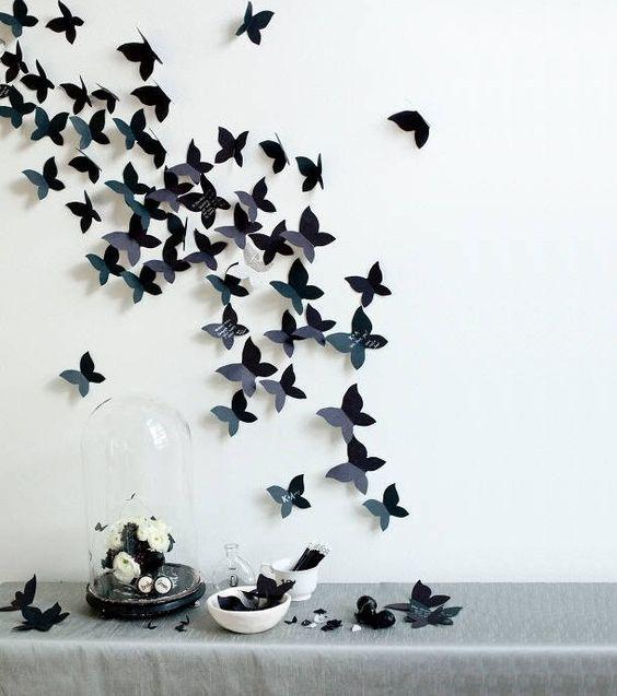 Dinsdag pinsdag week 6 7 zelf maken op zaterdag vlinders als muurdecoratie dinsdag - Deco muurdecoratie ...