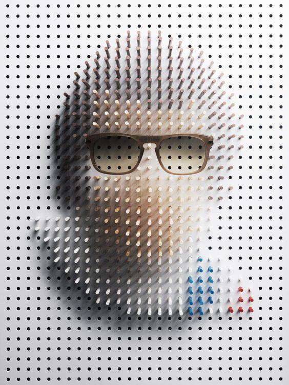 philip karlberg: pin art celebrity portraits for plaza