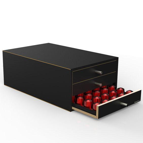Nespresso Schublade Kapselspender mit 3 Schubladen für 150 Kapseln - kapselbox.de