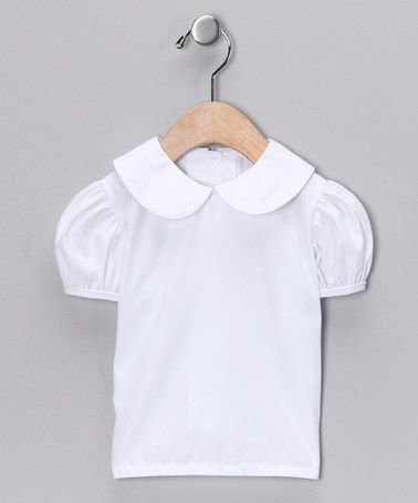 Lollypop Kids Clothing White Puff-Sleeve Blouse - Infant, Toddler ...