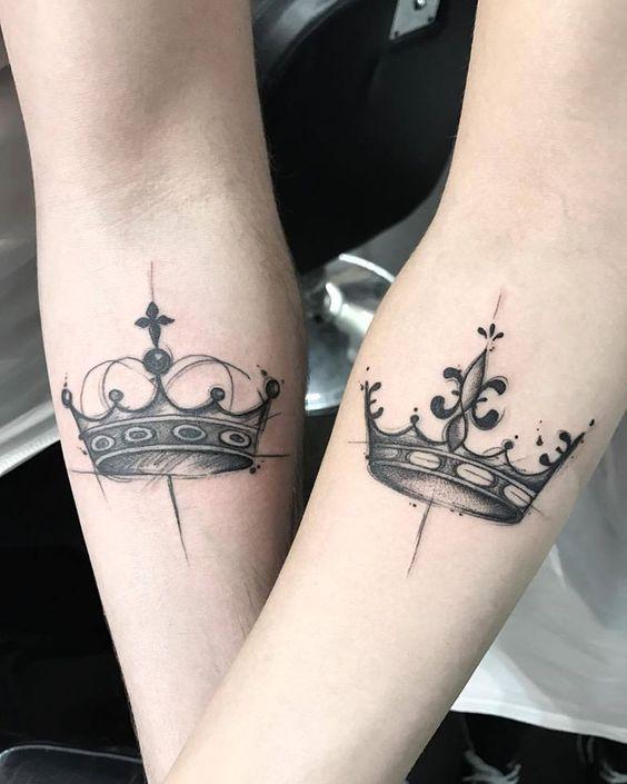 Tatuajes de corona para parejas