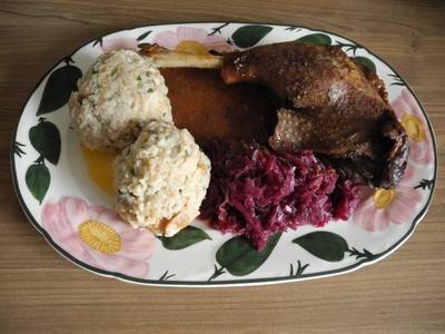 Rezept: Gänsekeulen, Mandarinen - Rotkohl und Semmelklöße Bild Nr. 21