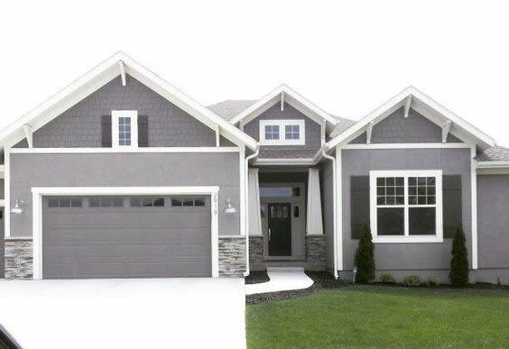 Dark Garage Door Inspiration3 Stone Exterior Houses Gray House Exterior House Exterior