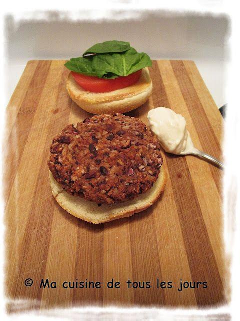 ma cuisine de tous les jours: végé burger d'haricots noirs
