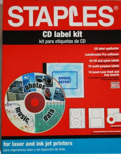 Staples CD Label Kit Staples    www dp B0041LQSZ0 - cd label