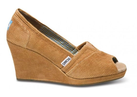 Wedges - Camel Cord Wrap Women's Wedges | TOMS.ca...please can I have...