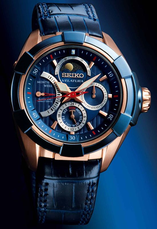 Seiko velatura kinetic direct drive moon phase watch srx010p1 watchs pinterest events for Watches direct