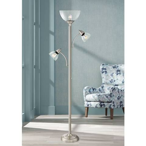 Covina Tree Torchiere Floor Lamp With Glass Shades 32y52 Lamps Plus Floor Lamp Torchiere Floor Lamp Column Floor Lamp