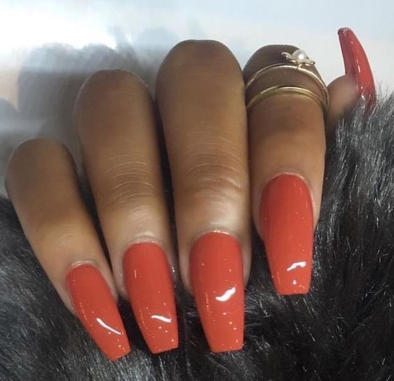 61 Acrylic Nail Designs For Fall And Winter Koees Blog Fall Acrylic Nails Gorgeous Nails Orange Nails