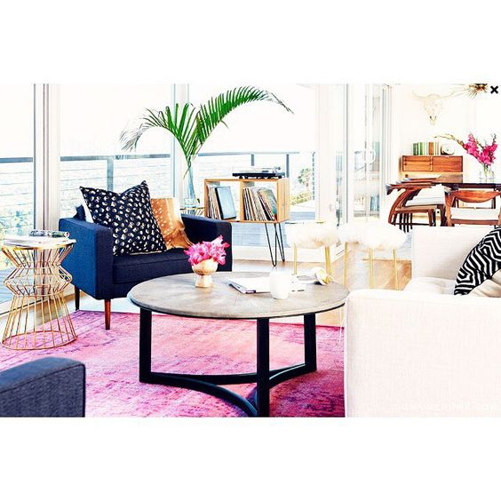 Gorgeous eclectic living room {via @mydomaine}