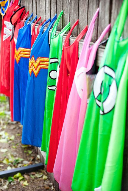 Capes from a Superhero Party #superhero #partycapes