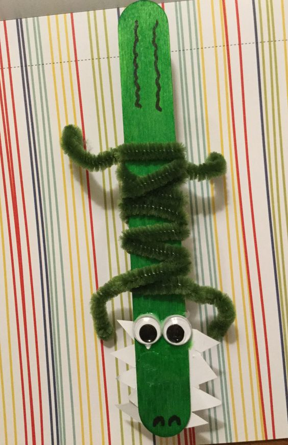 Then we made our own Christmas Crocodile