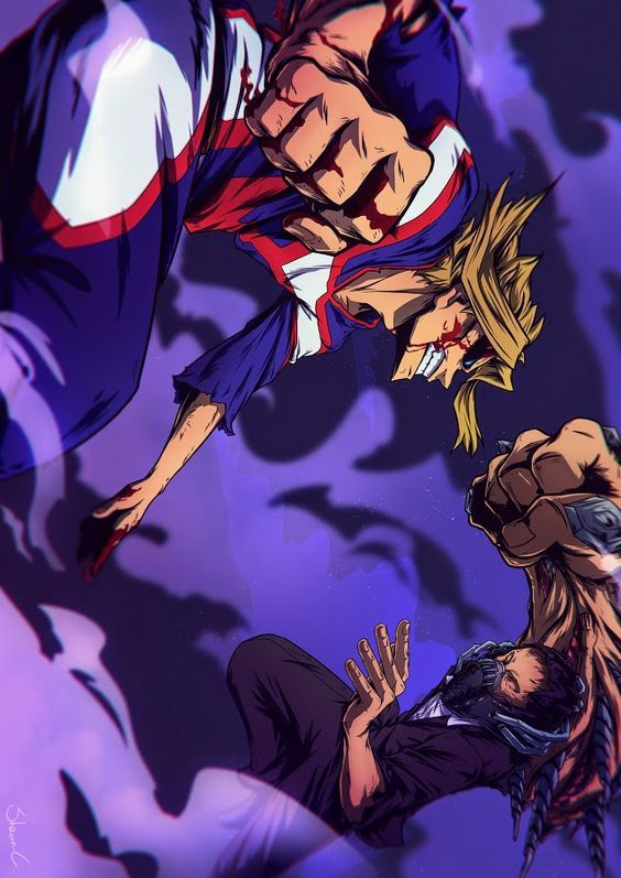 All Might Vs All For One My Hero Academia Allmight