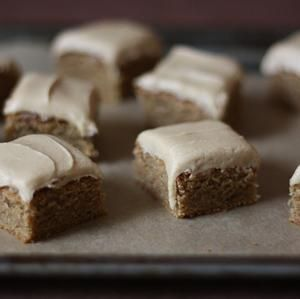 Frosted Speculoos Cookie Butter Bars! If you have not tried Speculoos Cookie Butter from Trader Joes yet, you must get on that.