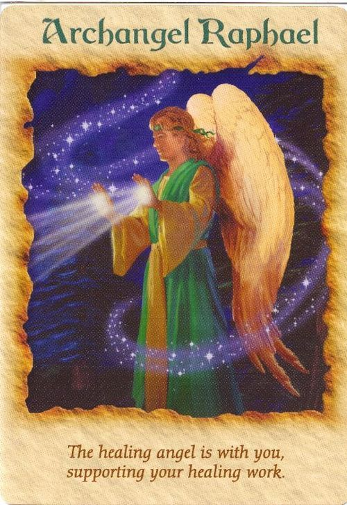 Archangel raphael, Archangel and Angel cards on Pinterest
