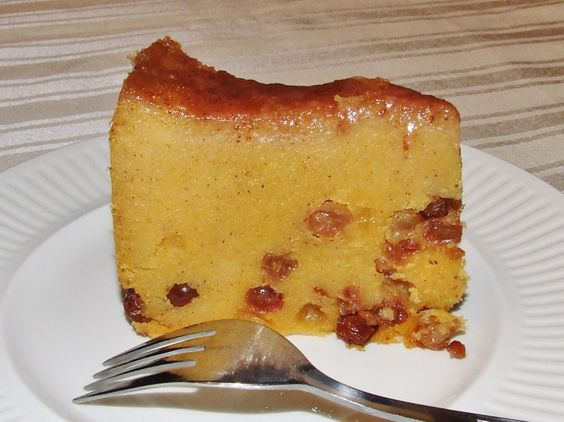 Jamaican Cornmeal Pudding... this is a relatively simple and inexpensive dessert. They bake the pudding, but as it's like an English pudding I would steam it. #victoriosteamjuicer #victoriodeluxegrainmill #budgetfriendly