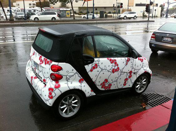 Hello Kitty Smart Car | Flickr - Photo Sharing!